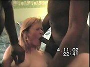 Cuckold wife vhs porn tape with two ebony men hubby directs