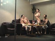 Sharing sexual partners at a pole dancing clubs private apartment