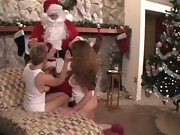2 sizzling milfs get a gift from santa